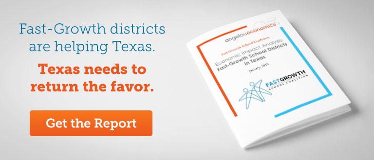 Fast Growth districts are helping Texas. Texas needs to return the favor. Get the report.